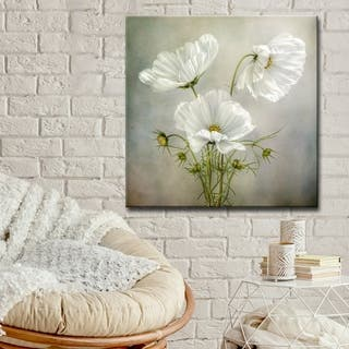 Cosmos Charm' Floral Wrapped Canvas Wall Art