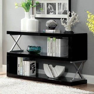 Furniture of America Loop Contemporary Metal 3-tier Bookcase