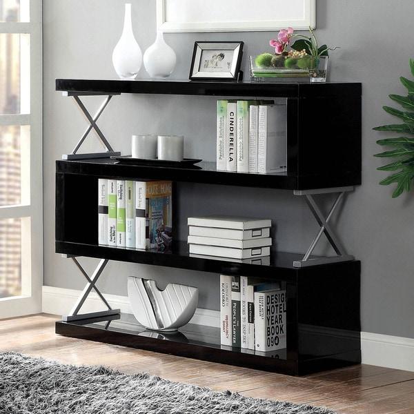 Furniture of America Loop Contemporary Metal 4-tier Bookcase