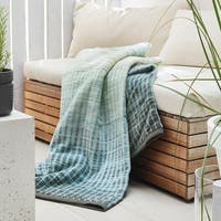 IBENA Seafoam Jacquard Throw Emmen