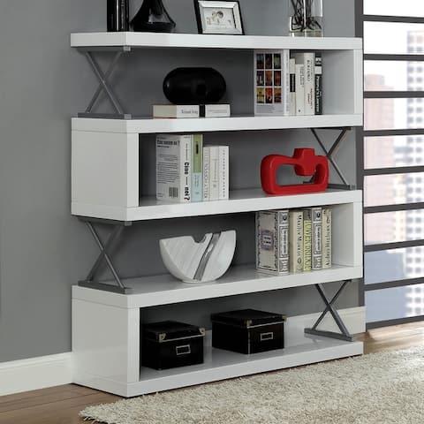 Booker Contemporary 5-tier Open Bookcase by FOA