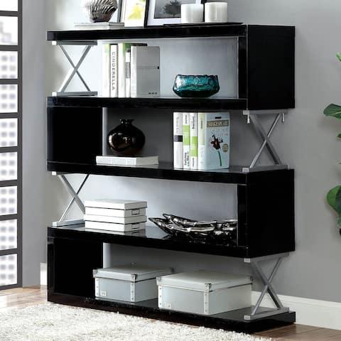 Furniture of America Loop Modern Metal 5-tier Bookcase