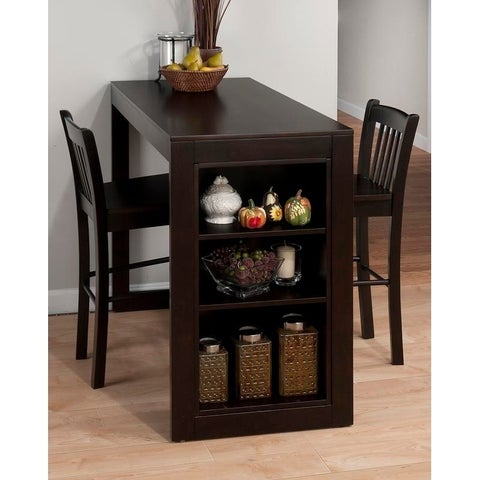 Tribeca Counter Height Dining Table with Shelving