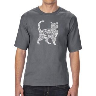 LA Pop Art Men's Tall Word Art T-shirt - Cat