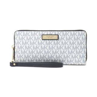 MICHAEL Michael Kors Jet Set Item Travel Continental Wallet Optic White/navy