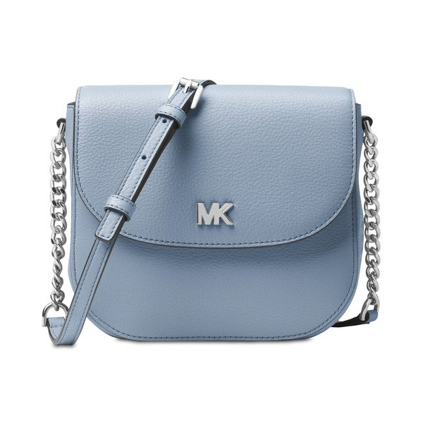d74bb1fb48a225 Shop MICHAEL Michael Kors Half Dome Crossbody Pale Blue - Free ...
