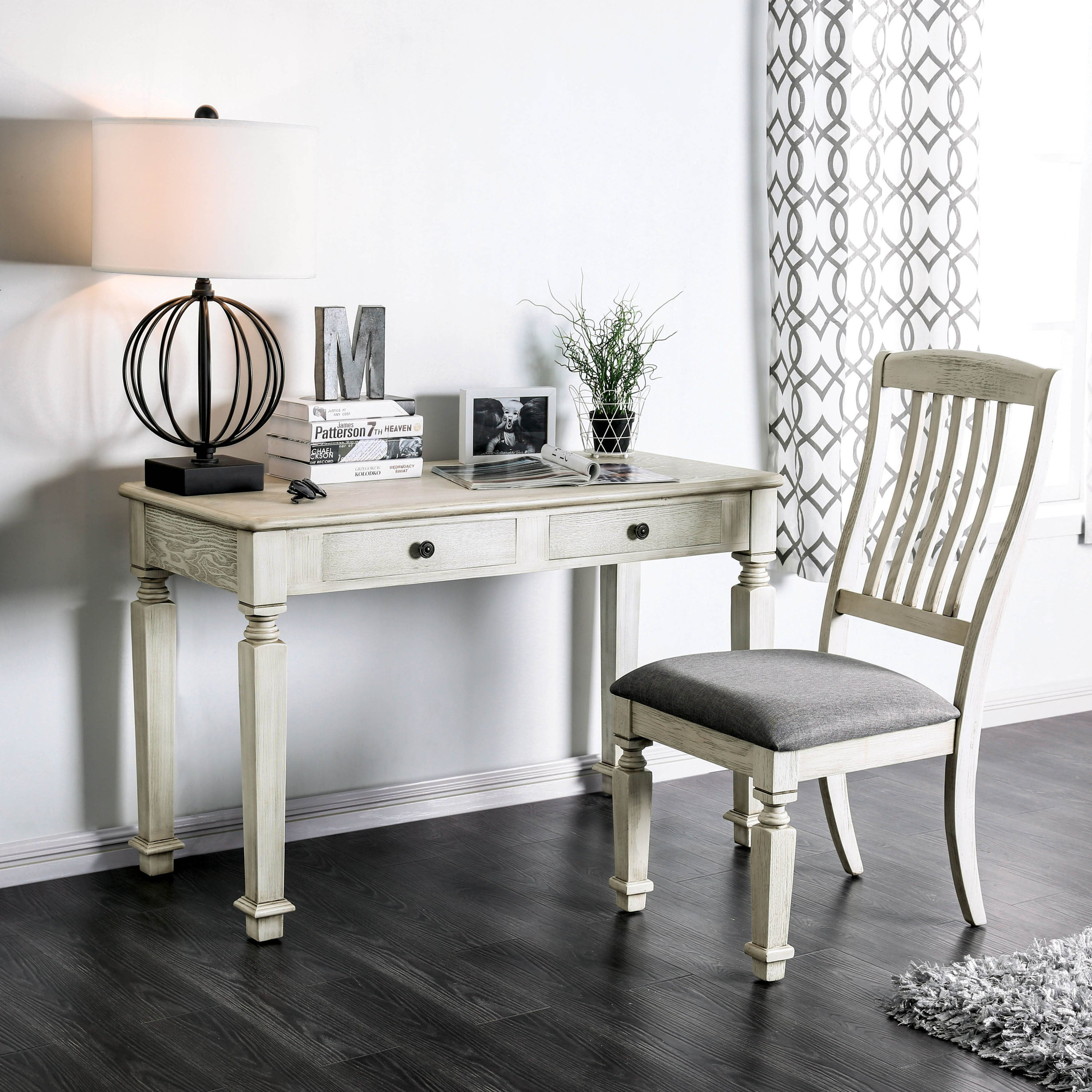 Nautical Office Furniture. Furniture Of America Perry Rustic 2 Piece  Antique White Desk And
