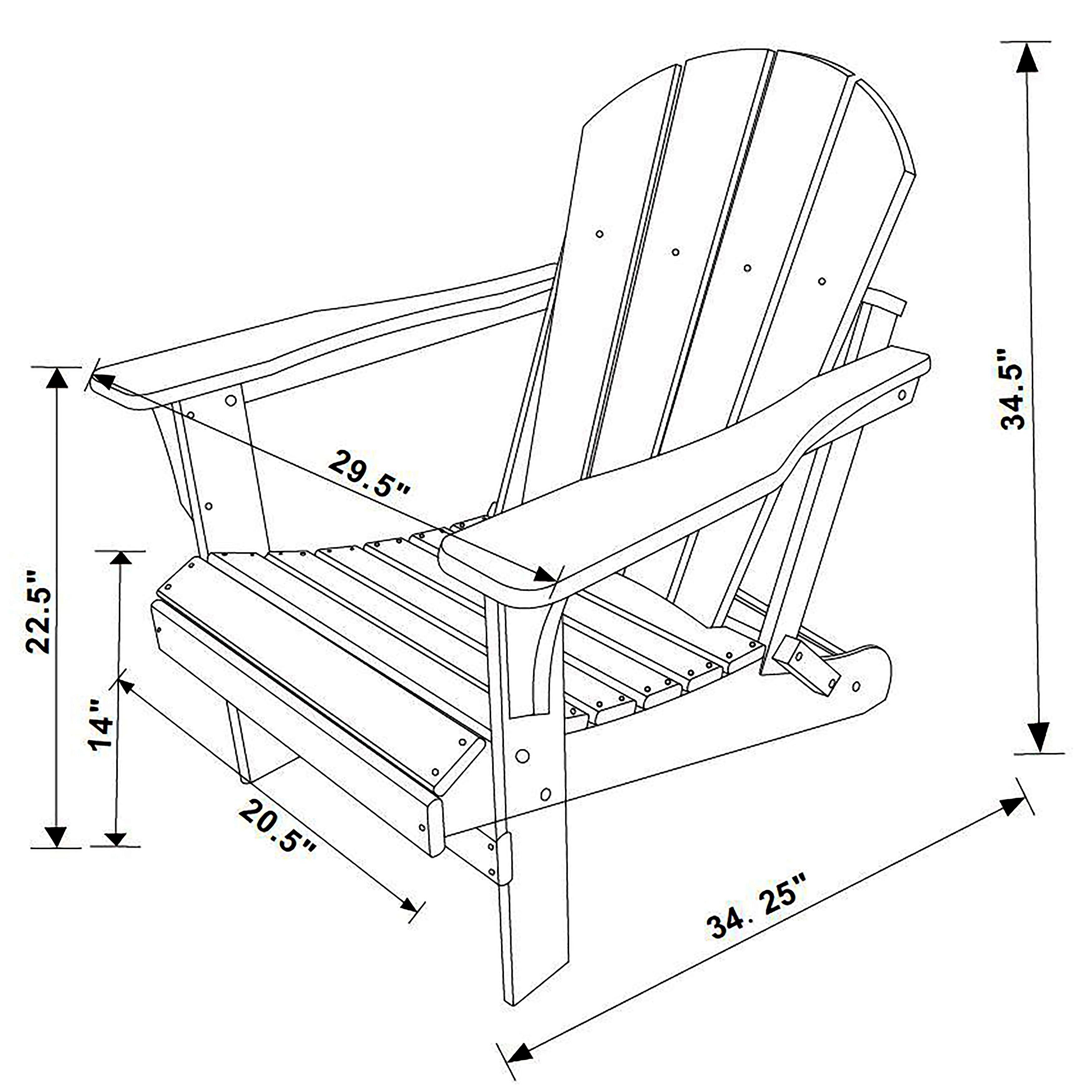 Laguna Outdoor Patio Poly Adirondack Chair (Set of 2)