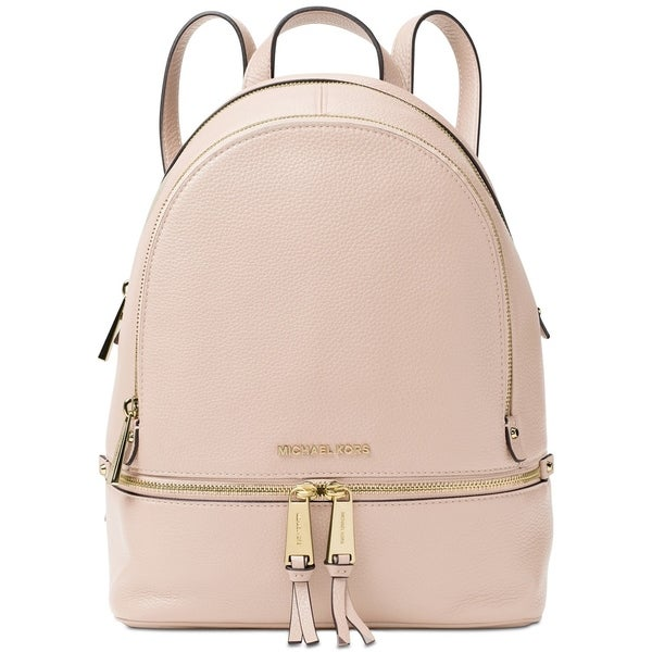 1cb66dbde2 Shop MICHAEL Michael Kors Rhea Zip Medium Soft Pink Backpack - Free ...