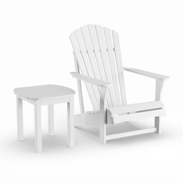 Brilliant Shop Havenside Home Bergen White 2 Piece Adirondack Chair Beatyapartments Chair Design Images Beatyapartmentscom