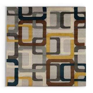 Carson Carrington Hammerfest Hand-tufted Geometric Indoor Area Rug - 8' Square