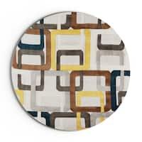 Palm Canyon Ashby Hand-tufted Geometric Wool Area Rug - 6'