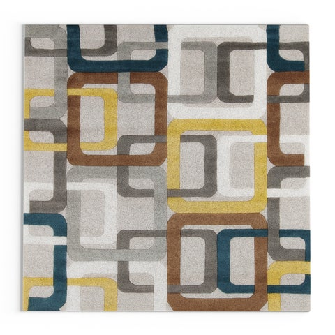 Carson Carrington Hammerfest Hand-tufted Bradshaw Geometric Wool Area Rug - 6' Square
