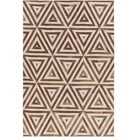 Carson Carrington Amal Hand-Crafted Viscose/Leather Area Rug