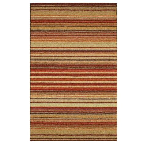 Carson Carrington Holmavik Hand-crafted Red Striped Casual Wool Area Rug - 5' x 8'