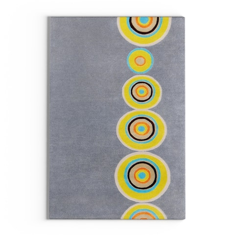 "Carson Carrington Haroya Hand-tufted Multicolored Circles Geometric New Zealand Wool Area Rug - 3'3"" x 5'3"""