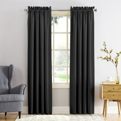Porch & Den Inez Room Darkening Window Curtain Panel and Valance, Single Panel