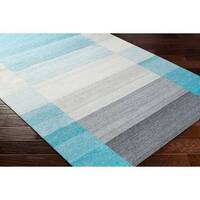 Palm Canyon Neptune Hand Woven Viscose/Wool Area Rug