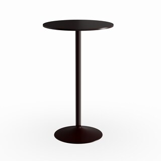 Palm Canyon Western Black Round Metal Bar Table