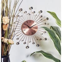 Carson Carrington Alavus Copper Sunburst 15-inch Wall Clock