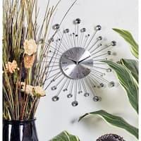 Modern 15 Inch Silver Metal Wall Clock by Studio 350