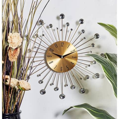 Carson Carrington Alavus Metal Glass 15-inch Wall Clock