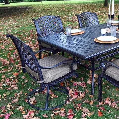 Manasquan Olefin/Aluminum Dining Swivel Rocker With Cushion (Set of 2) by Havenside Home