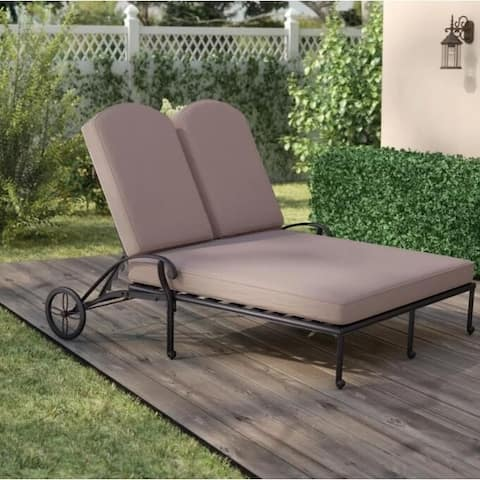 Lewes Double Chaise Lounger with Removable Cushion by Havenside Home