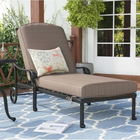 Havenside Home Manasquan Olefin/Aluminum Chaise Lounger and Cushion