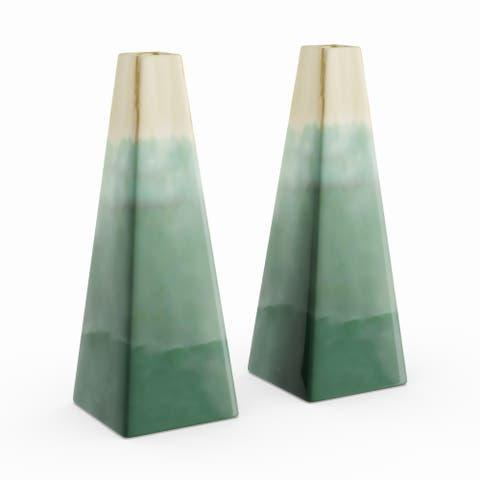 Carson Carrington Alavus Ceramic Green Vase (Set of 2)