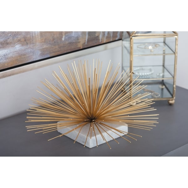 Carson Carrington Alavus Metal Marble Gold Flower