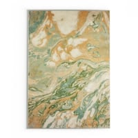 """Palm Canyon Verde Abstract Green/Gold Area Rug - 7'10"""" x 10'10"""""""