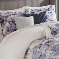 Madison Park Adella Purple 7 Piece Cotton Printed Comforter Set