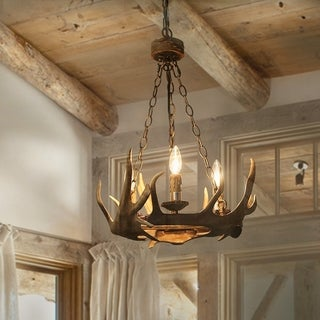 LNC 3-Light Antler Pendant Lighting Ceiling Lights Chandeliers