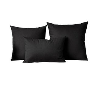 Solid Decorative Pillow Cases Throw Polyester Cushion Cover for Home Sofa Couch Decor Size 12 18 24 26 Inches