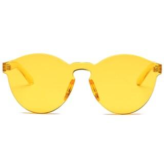 Trendy Wayfarer Style Sunglasses (Option: Yellow)