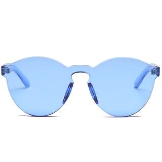 Trendy Wayfarer Style Sunglasses (Option: Blue)