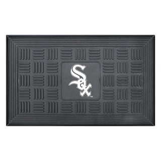 "MLB Chicago White Sox Sports Team Logo Medallion Door Mat 19.5"" x 31.25"""