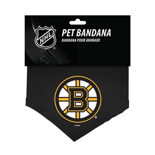 new concept 55729 f40f0 Shop NHL Boston Bruins Sports Team Logo Cotton Dog Bandana ...