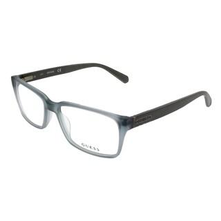 Guess Rectangle GU 1843 B24 BL Unisex Transparent Blue Frame Eyeglasses