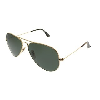 Ray-Ban Aviator RB 3025 Classic Aviator 114 Unisex Gold Brooks Brother Edition Frame Green Lens Sunglasses
