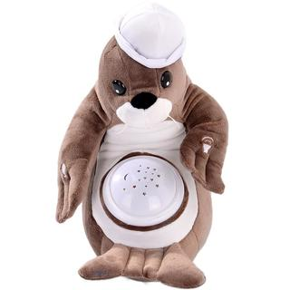 Dimple DC12699 Sally Seal Nightlight Soother with Favorite Lullabies, Nature Sounds and Projecting Stars & Moon Light