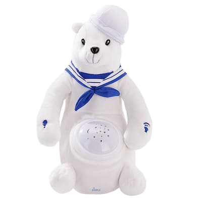 Dimple DC12698 Barry Polar Bear Nightlight Soother with Favorite Lullabies, Nature Sounds and Projecting Stars & Moon Light