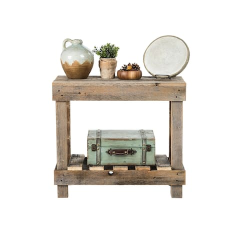 Handmade Del Hutson Designs Barnwood Sofa Table