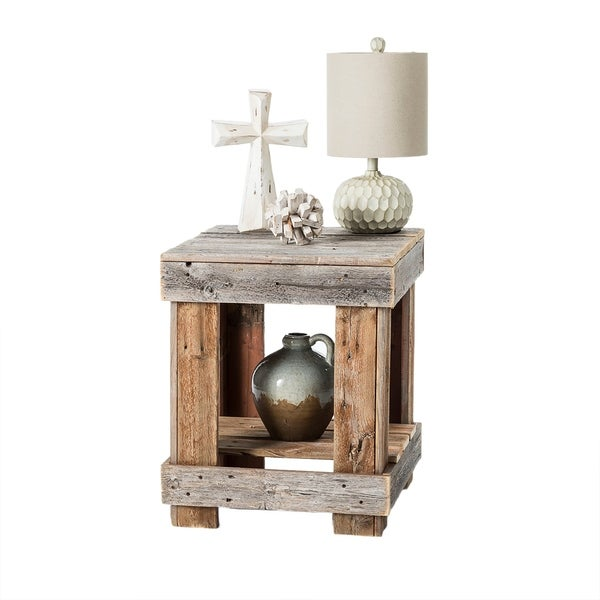 Shop Del Hutson Designs Barnwood End Table On Sale Free Shipping