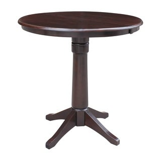 """36"""" Round Top Counter Height Ped Table with 12"""" Leaf"""