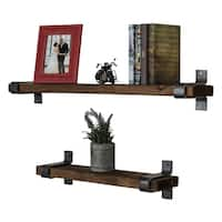 Del Hutson Designs Industrial Grace Floating Shelves, 2-Piece Set