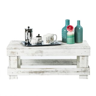 Del Hutson Designs Barnwood Coffee Table (Option: White)