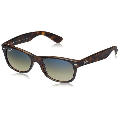 Ray-Ban RB2132 New Wayfarer Matte Tortoise Frame Polarized Blue/Green Gradient 55mm Lens Sunglasses