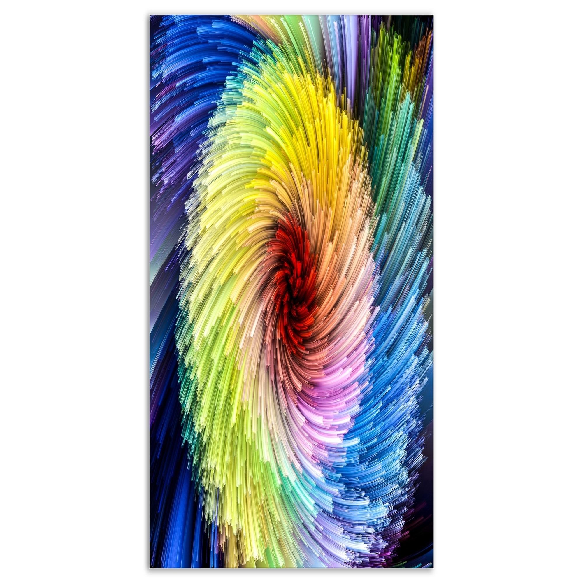 Designart Virtual Vibrant Vortex Contemporary Art On Wrapped Canvas Overstock 21275554